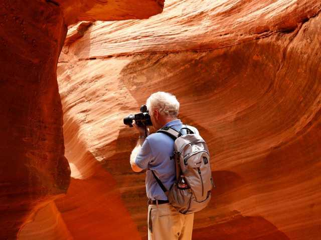 Tour ohne Touris - der Waterholes Canyon